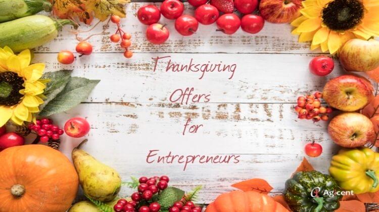 Thanksgiving Offers for Entrepreneurs