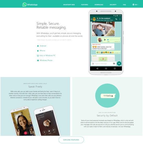 Short form design landing page