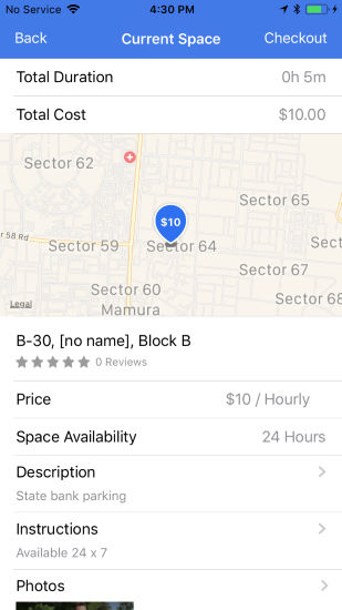 drivewey on demand parking app renting space