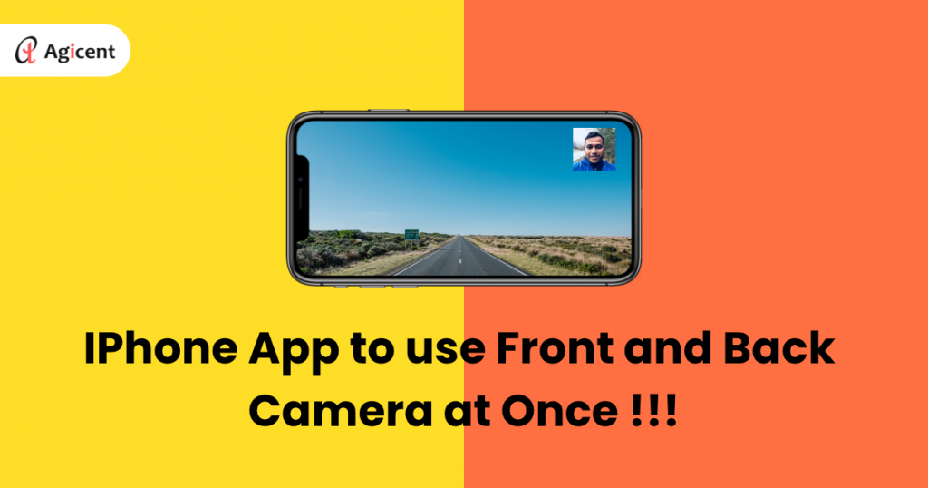 iPhone app to use front and back camera at once