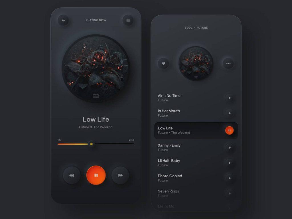 Dark UI Top App Design Trends in 2020
