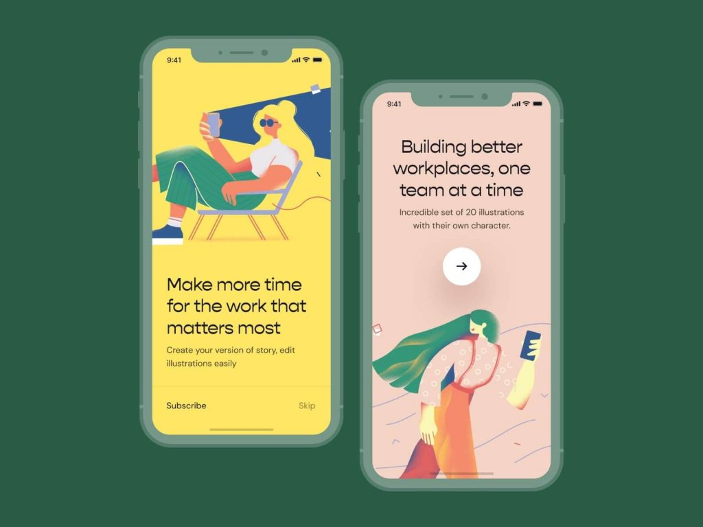 illustrations Top App Design Trends in 2020