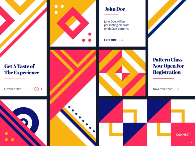 Patterns based Design Top Web Design Trends in 2020
