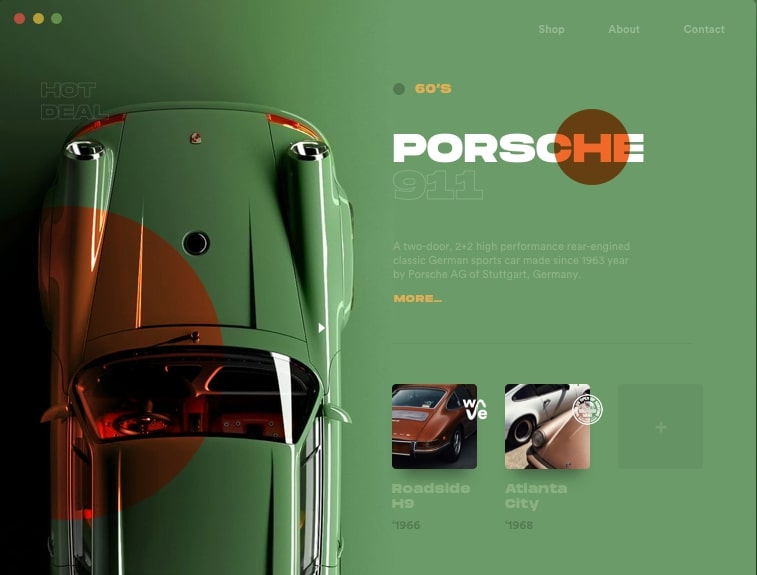 Retro Style Top Web Design Trends in 2020