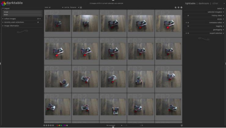 DarkTable Photo Editing Tools in Ubuntu Software