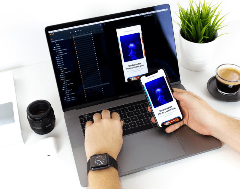 development phase to create an app from scratch